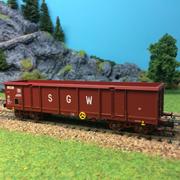 Wagon tombereau SGW à bogies ep IV HO-1/87 Jouef