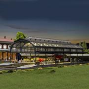 Verrière de gare HO-1/87 Kibri