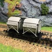 Wagon bi-foudres OCEM 19 chanterelle-HO-1/87-LSMODELS